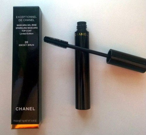 ТУШЬ CHANEL EXCEPTIONNEL DE CHANEL MASCARA GEL IRISE 20 SMOKY BRUN TOP COAT